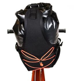 Restrap Big Saddlebag 14L kuivalaukulla, black/orange